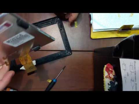 Разборка и замена дисплея TeXet TB-710HD