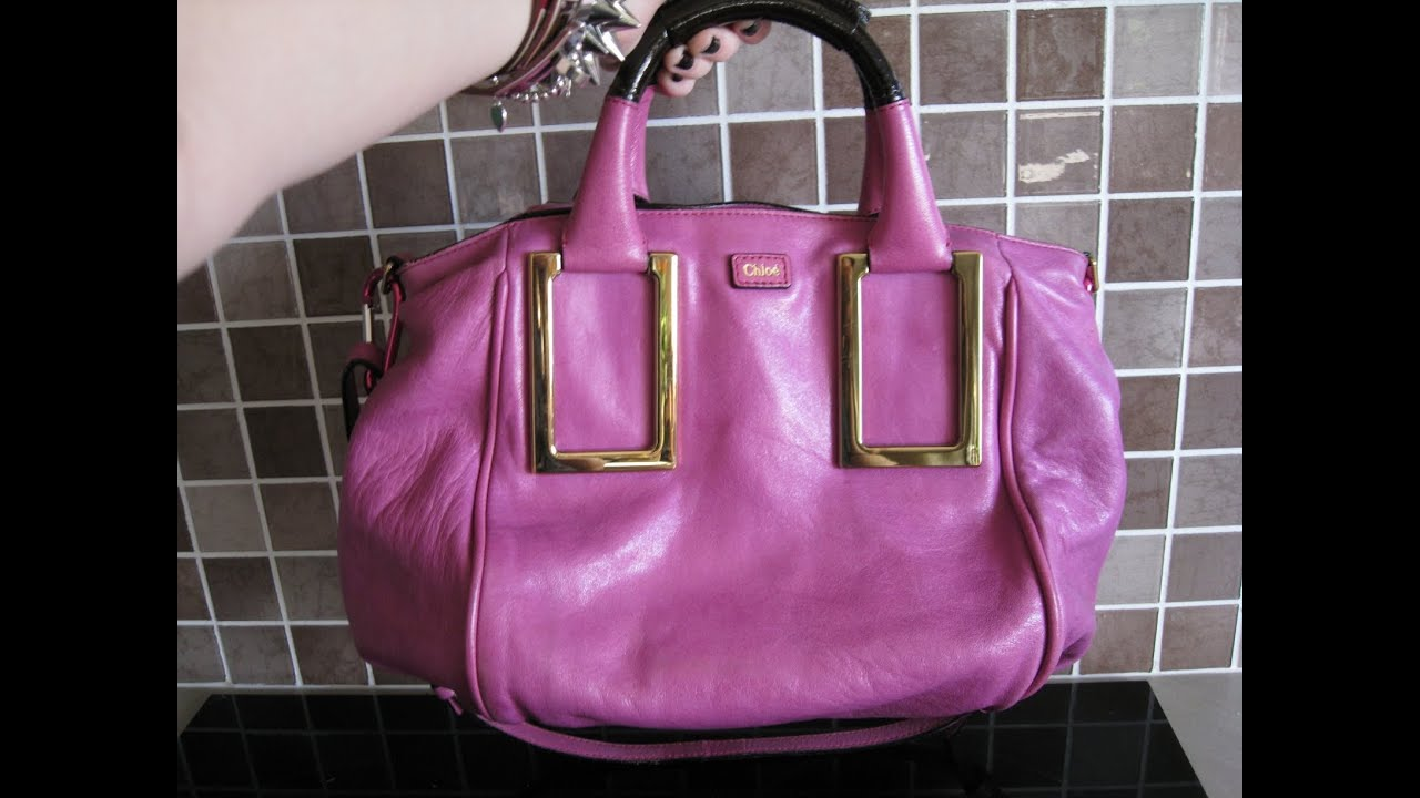 Chloe Ethel Satchel Review and typical contents - YouTube