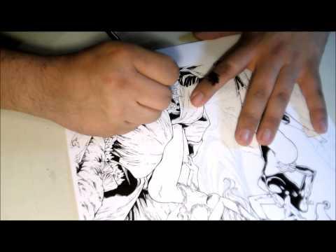 Dan Prado Inking over Luis Figueiredo