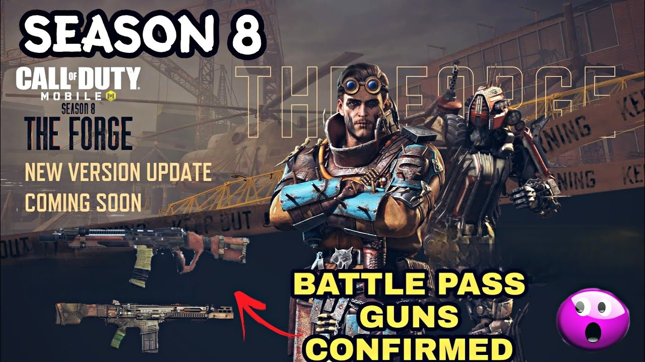 Call Of Duty Mobile Season 8 New Battle Pass Gun Skins New