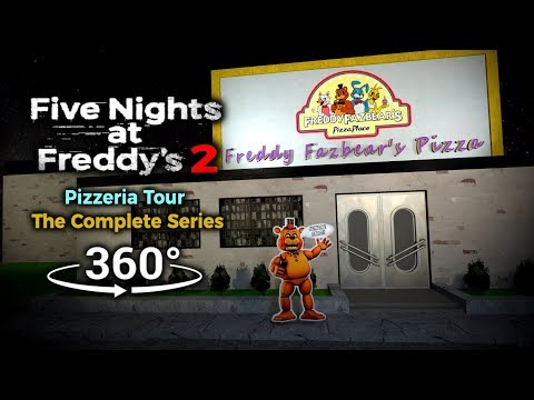 360°| Five Nights at Freddy's 2 Pizzeria Tour - The Complete Series (VR Compatible) thumbnail