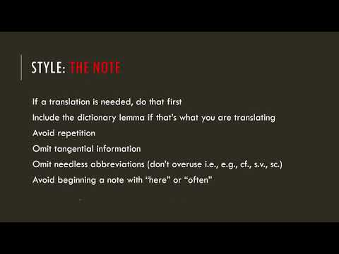 Writing Notes For DCC. 3: Style And Usage