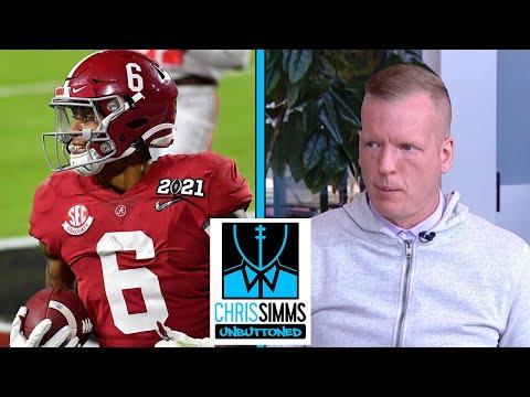 Chris Simms' Top 6 2021 NFL Draft WR rankings | Chris Simms Unbuttoned | NBC Sports