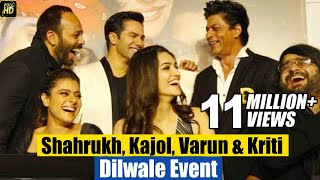Dilwale Movie 2015 (HD) Promotions | Shahrukh,Kajol, Varun, Kriti | Trailer & Music Launch