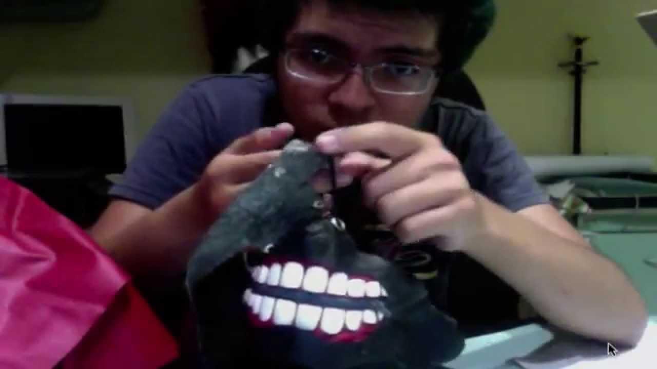 Explicacion: ¿com hice mi mascara de kaneki? de tokyo ghoul - YouTube