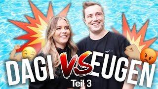 DAGI vs. EUGEN - wer verliert muss in den KALTEN POOL ! 😳 | Dagi Bee