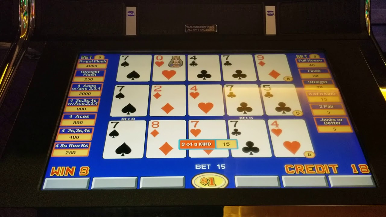 Jackpot At High Limit Triple Play Ddb Video Poker Youtube