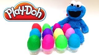 Play-Doh Surprise Eggs Cookie Monster Angry Birds Mickey Mouse Princess Disney Hello Kitty