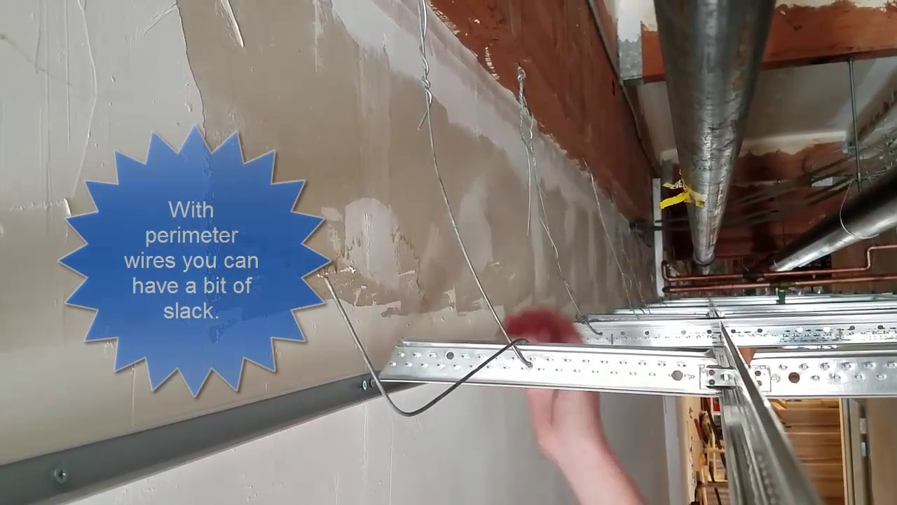 How to tie ceiling wires - YouTube