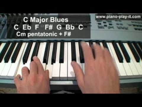 Piano Blues Scale Lesson - How to Play the Blues on Piano