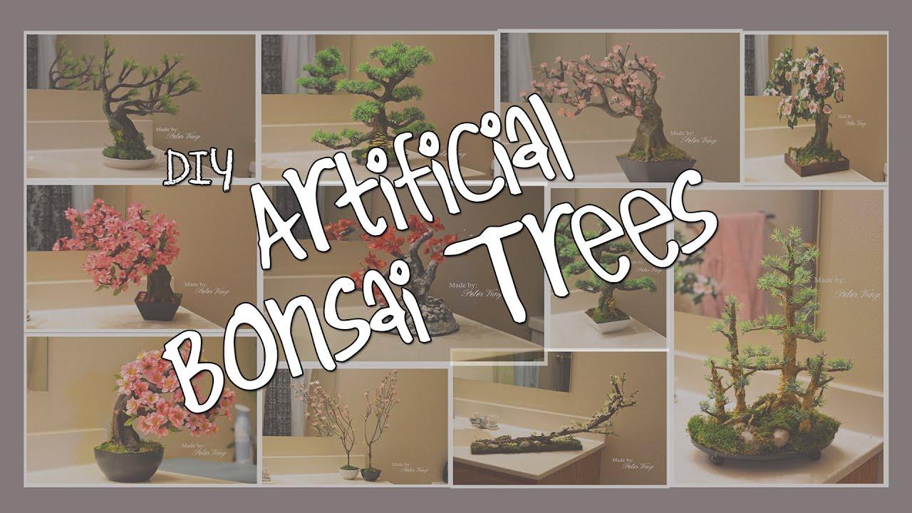 Artificial Bonsai Cherry Blossom Tutorial Youtube