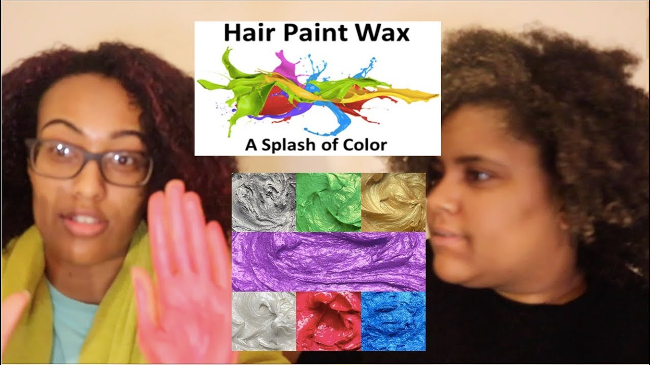 Hair Paint Wax On Natural Hair Review Rose Gold Coloring Curly Hair Youtube