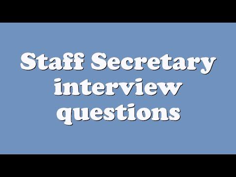 Staff Secretary interview questions