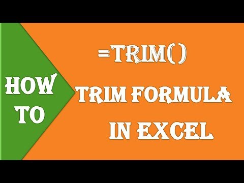 How To Use Trim Formula in Excel  ll  Trim Function in Excel  ll  Cleaning Data in Excel