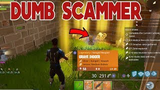 Dumb Scammer Scammed Himself (Scammer Gets Scammed) Fortnite Save The World