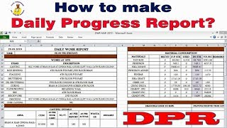 How To Make Daily Progress Report For Construction Site Daily Progress Report Kaise Banana Hai Dpr Youtube