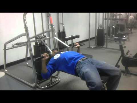 Brand New Video Bench Press Machine 207ibs Youtube