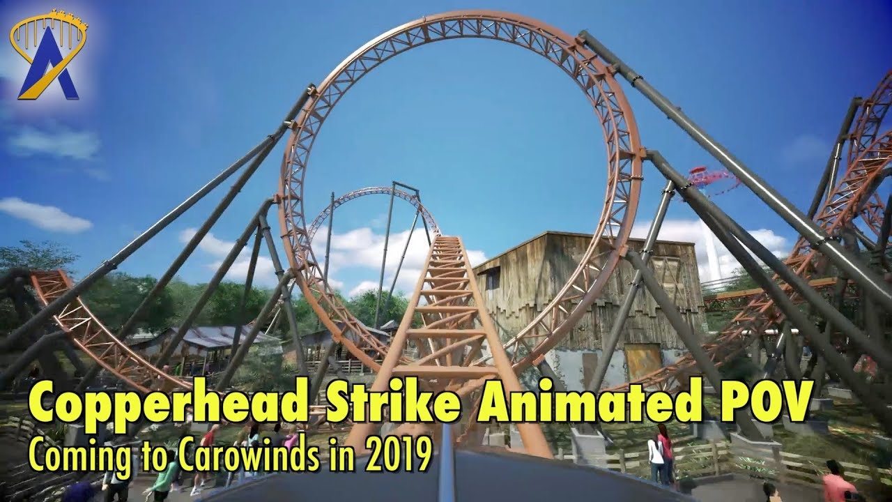 Copperhead Strike Animated POV - Coming to Carowinds in 2019