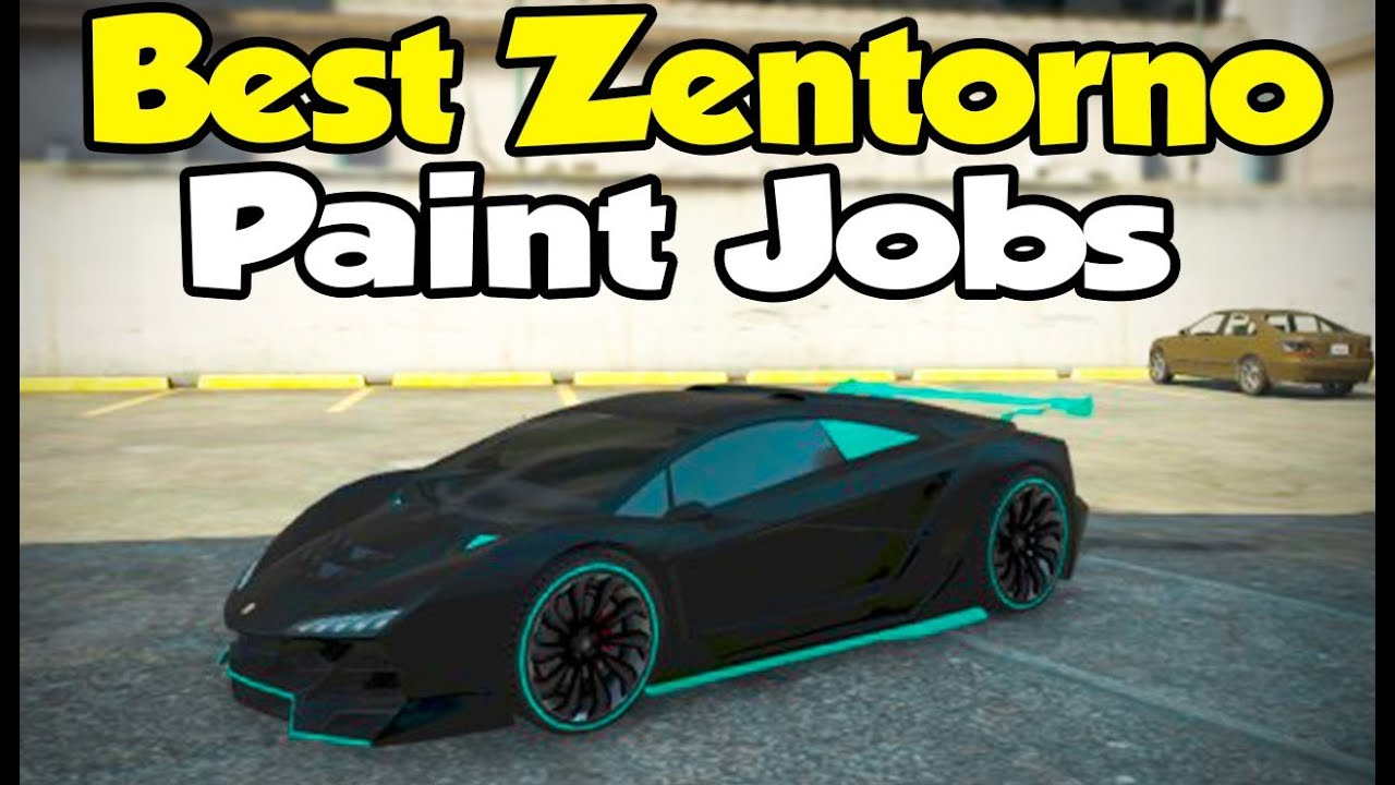 Test Paint Color Online Gta 5 Online Best Pegassi Zentorno Paint Jobs Touch Up