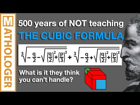 500 years of NOT teaching THE CUBIC FORMULA. What is it they think you can't handle?