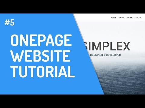 [5] One-Page Website Mit HTML & CSS   Header & Navigation