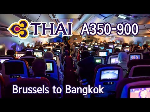 TRIP REPORT | THAI Airways A350-900 (Economy) | Brussels - Bangkok | TG935 Flight Review. การบินไทย