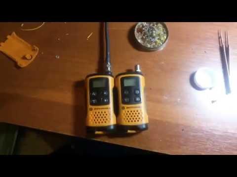 Рация Motorola TLKR T41 ( T40 ) увеличиваем дальность связи