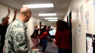 Flash mob at Minot Air Force Base