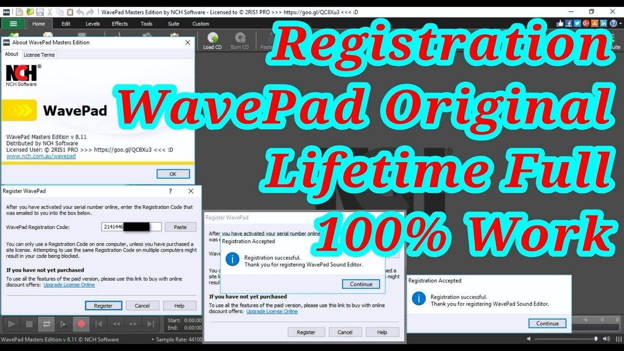 Registration Code WavePad Masters Edition Original ...