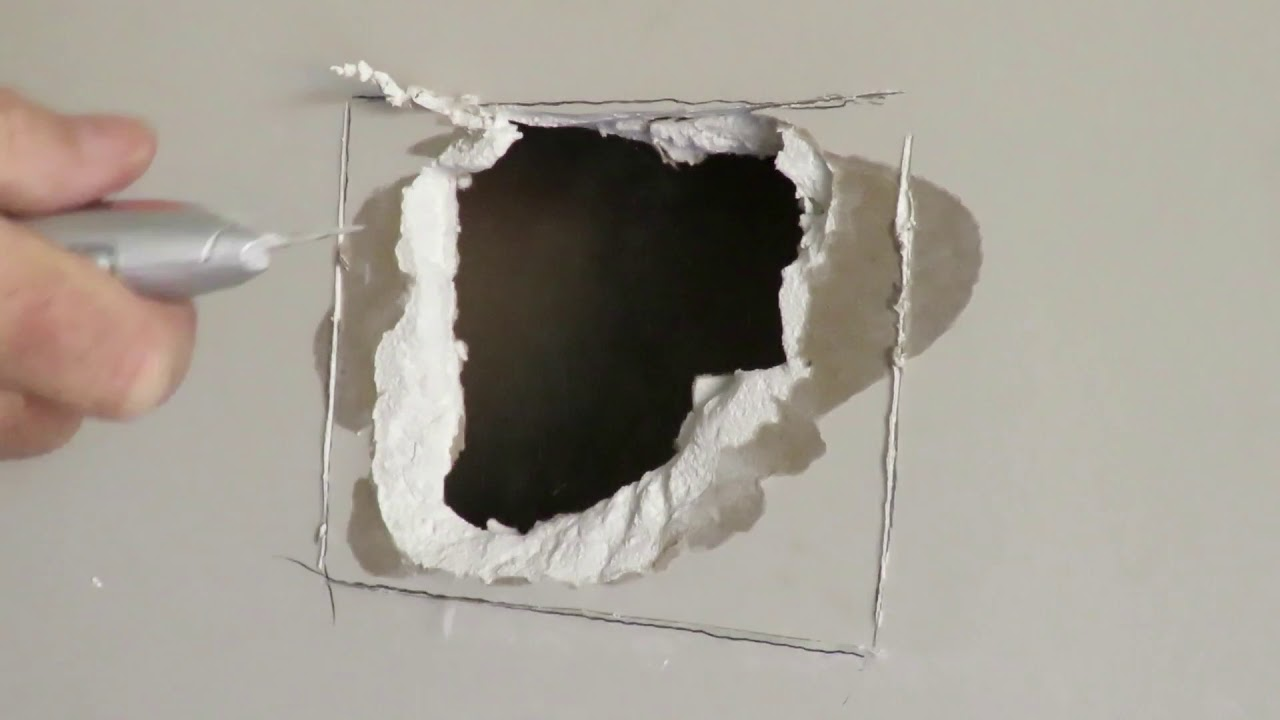 How To Repair Drywall And Fix A Large Hole In The Plaster Wall Easy Way