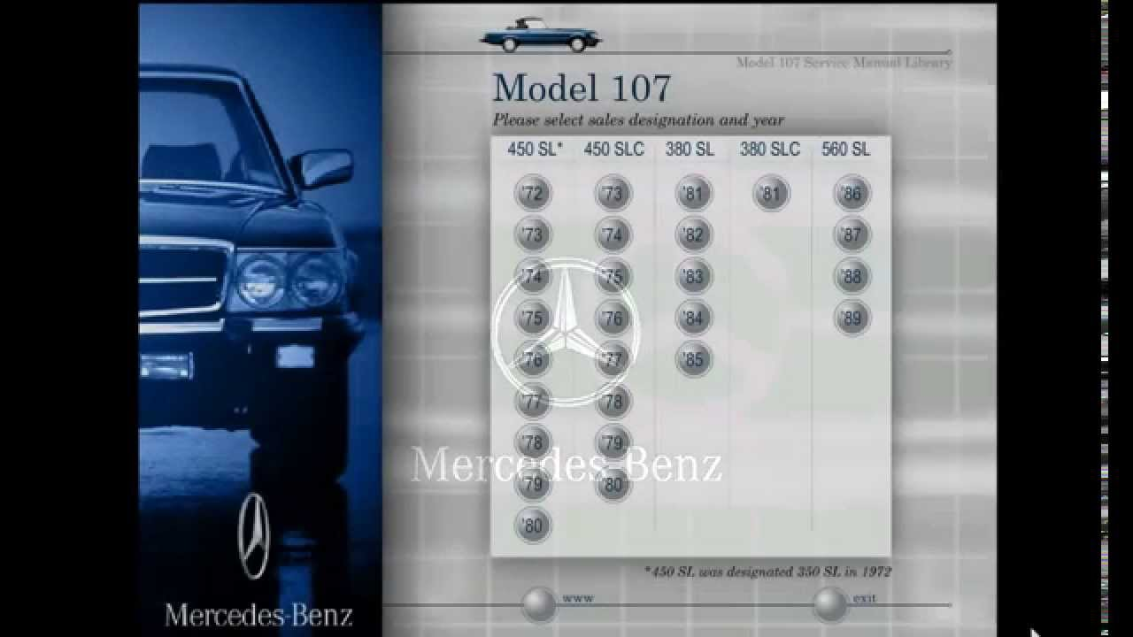 mercedes benz model 107 service manual library youtube rh youtube com 1987 mercedes 560sl repair manual 1988 mercedes 560sl repair manual