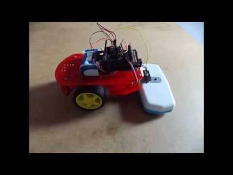 Project Cleaner robot using Magician Chassis Arduino