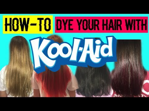 Dying our hair with Kool-Aid!! D.I.Y. KOOL-AID dye (lasts up to 8-10 Months!!)
