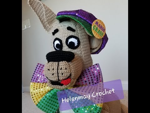 Crochet Large Amigurumi Great Dane Dog Part 1 of 3 DIY Video Tutorial