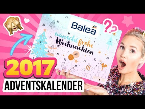 DM HAUL 2017 Adventskalender!! 😍 BALEA Kalender Gewinnspiel 💕 DM LIVE TEST & UNBOXING Deutsch