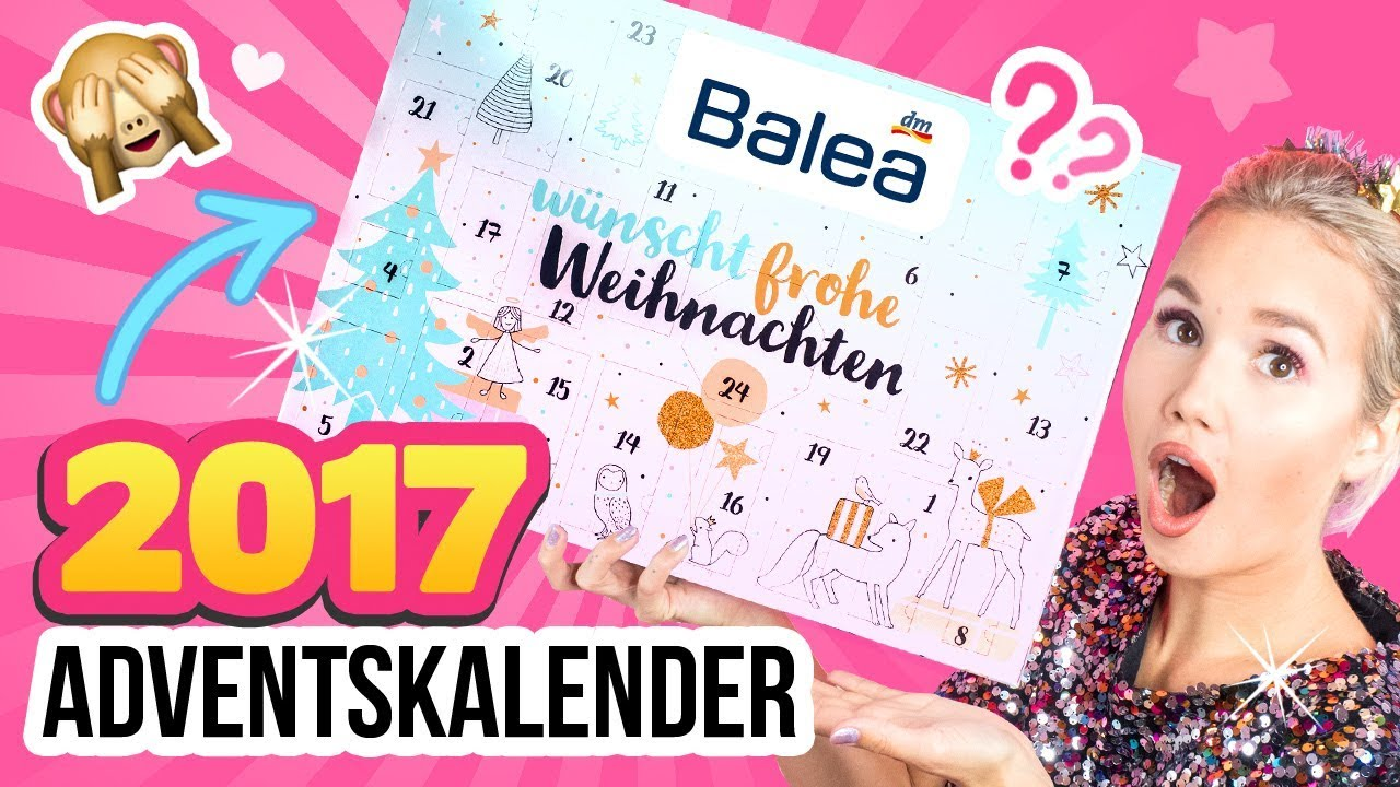 dm haul 2017 adventskalender balea kalender dm live test unboxing deutsch youtube. Black Bedroom Furniture Sets. Home Design Ideas
