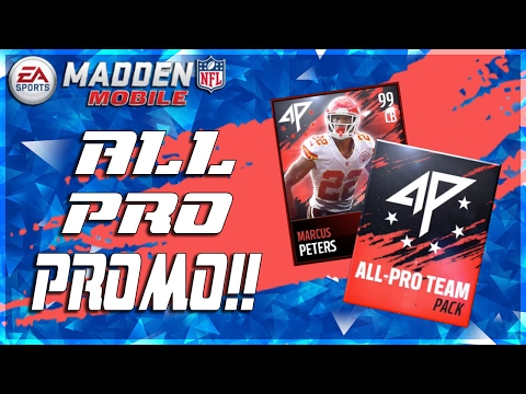 BRAND NEW PROGRAM!! ALL PRO TEAM 99 OVR MARCUS PETERS!! MADDEN MOBILE 17