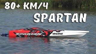 скоростная лодка TRAXXAS Spartan ... Выжимаем максимум, башим и ловим удочкой