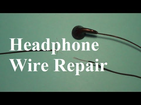 how to repair headphone wires youtube 4 Pole Headphone Jack Wiring