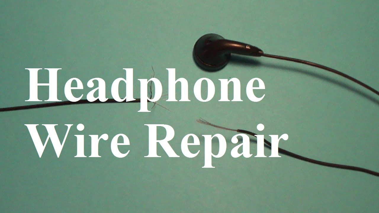 Headphone Wire Diagram Ear Canal With Wax How To Repair Wires - Youtube