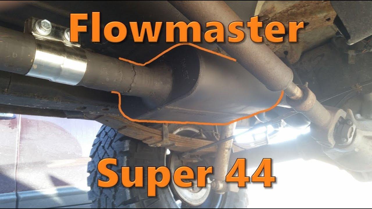 installing flowmaster super 44 muffler on jeep cherokee xj