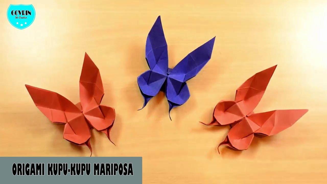 Cara Mudah Membuat Origami Kupu Kupu Mariposa Tutorial Kerajinan Tangan