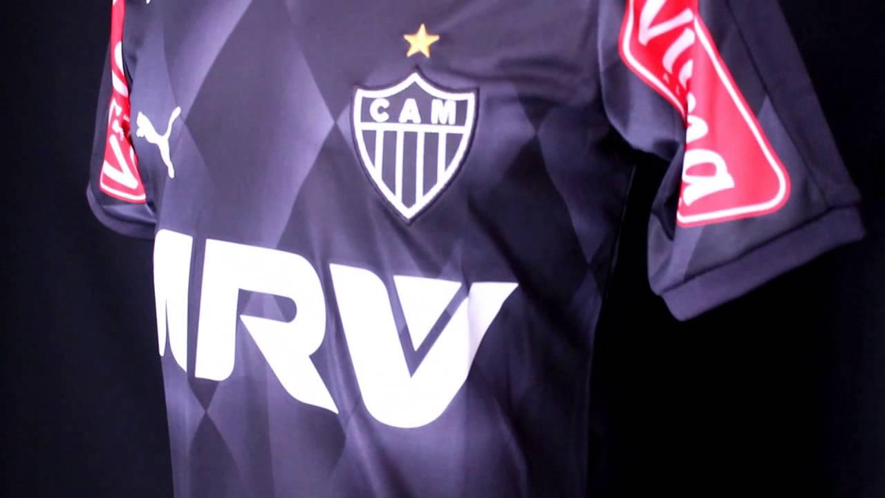 b5d50136c7 Camisa Jogo 3 Atlético Mineiro 2015 Puma Preta - YouTube
