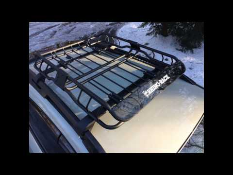 Subaru XV Crosstrek with Rhino Rack XTray roof cargo basket