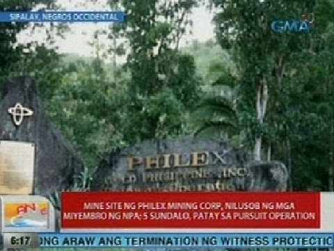 UB: Mine site ng Philex Mining Corp sa Sipalay, Negros Occidental, nilusob ng NPA