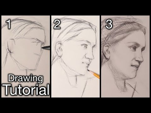 Portrait Drawing Lesson | A Step By Step Tutorial