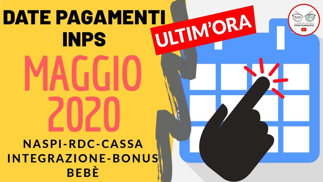 Calendario Pagamenti Maggio Naspi Reddito Di Cittadinanza Cassa Integrazione Bonus Bebe 2020 Youtube