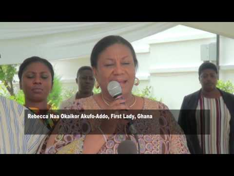 GHANA FIRST LADY MEETS GADANGME QUEEN MOTHERS