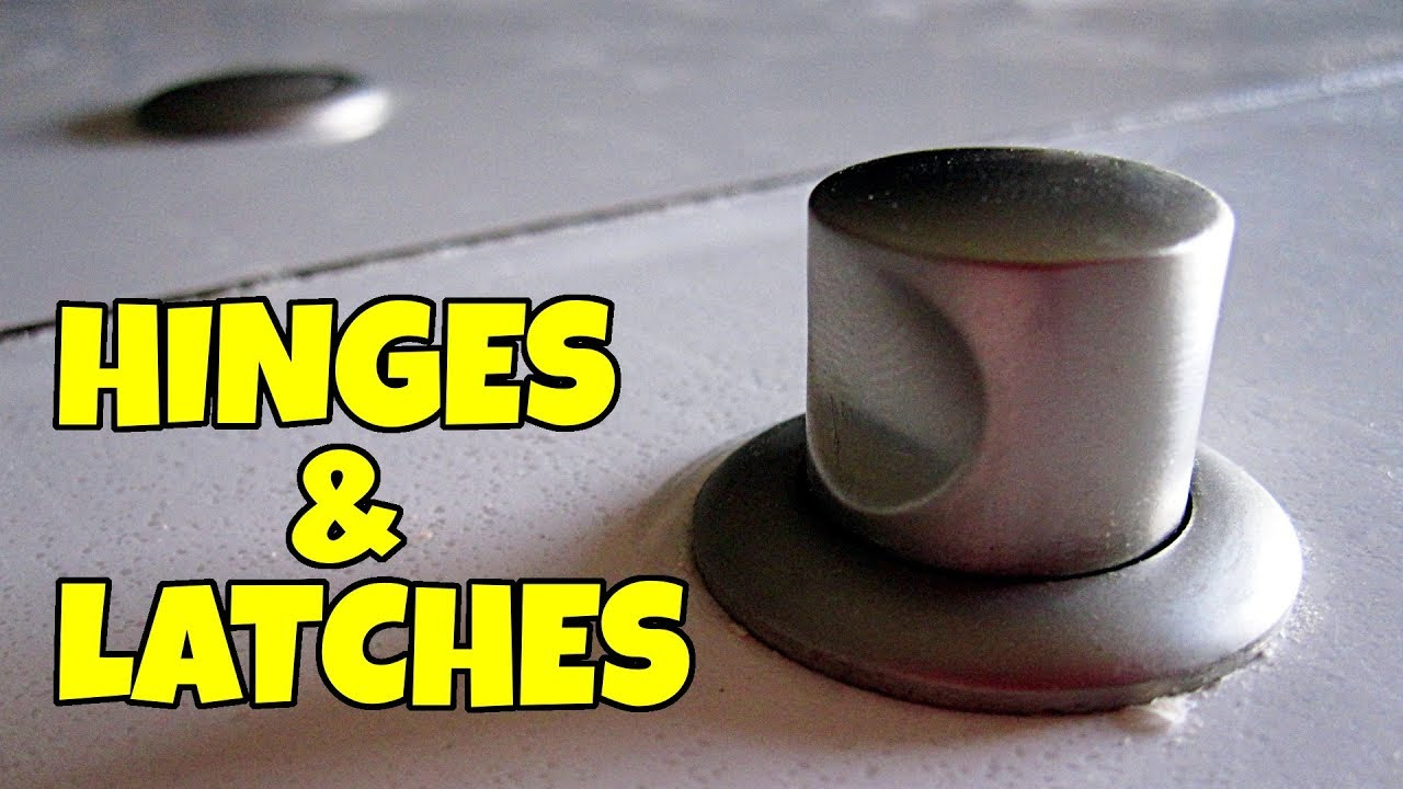 Rv Cabinet Hinges Pushbutton Latches Youtube