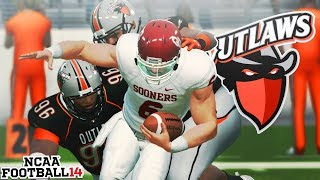 #2 Oklahoma and Baker Mayfield! Ozark State Outlaws NCAA 14 Team Builder Dynasty Ep. 4